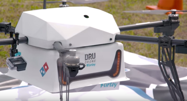 Dominoes pizza drone