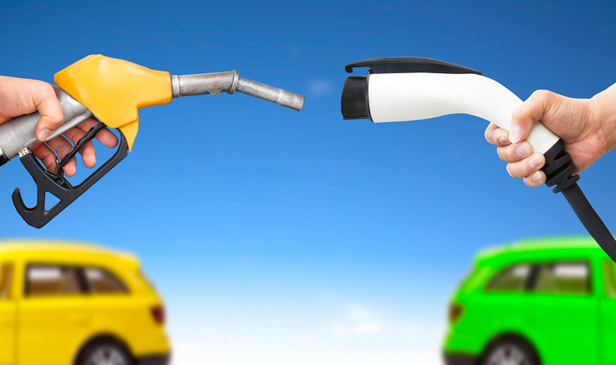 Electric car and petrol pumps