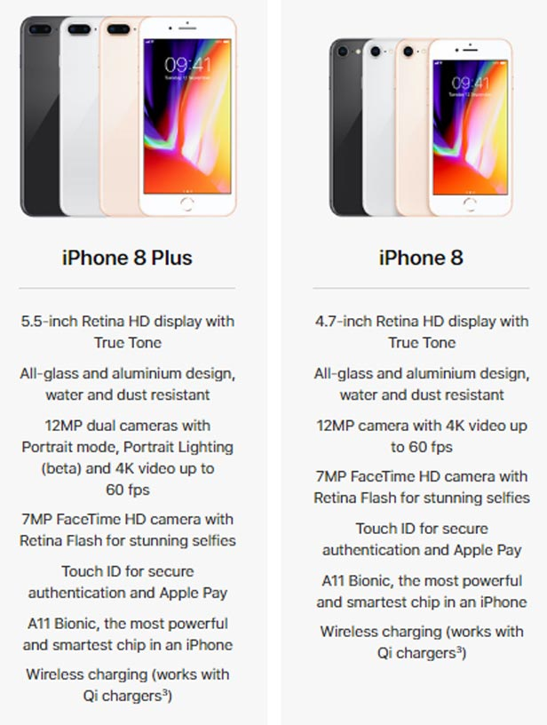 iPhone 8 and 8 Plus stats