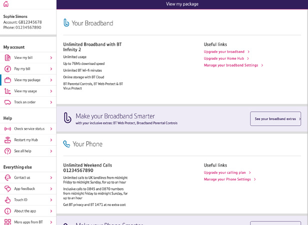 My BT app View package