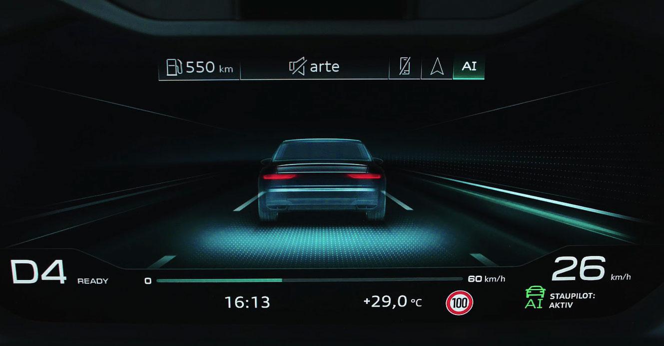 Audi Traffic Jam Pilot screenshot