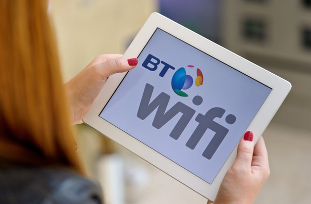 BT Wi-fi app on tablet