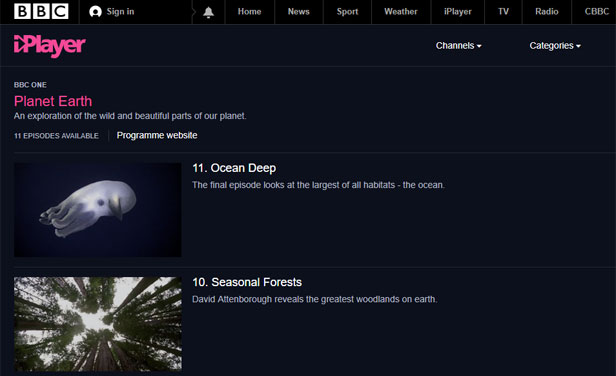 BBC iPlayer - Planet Earth
