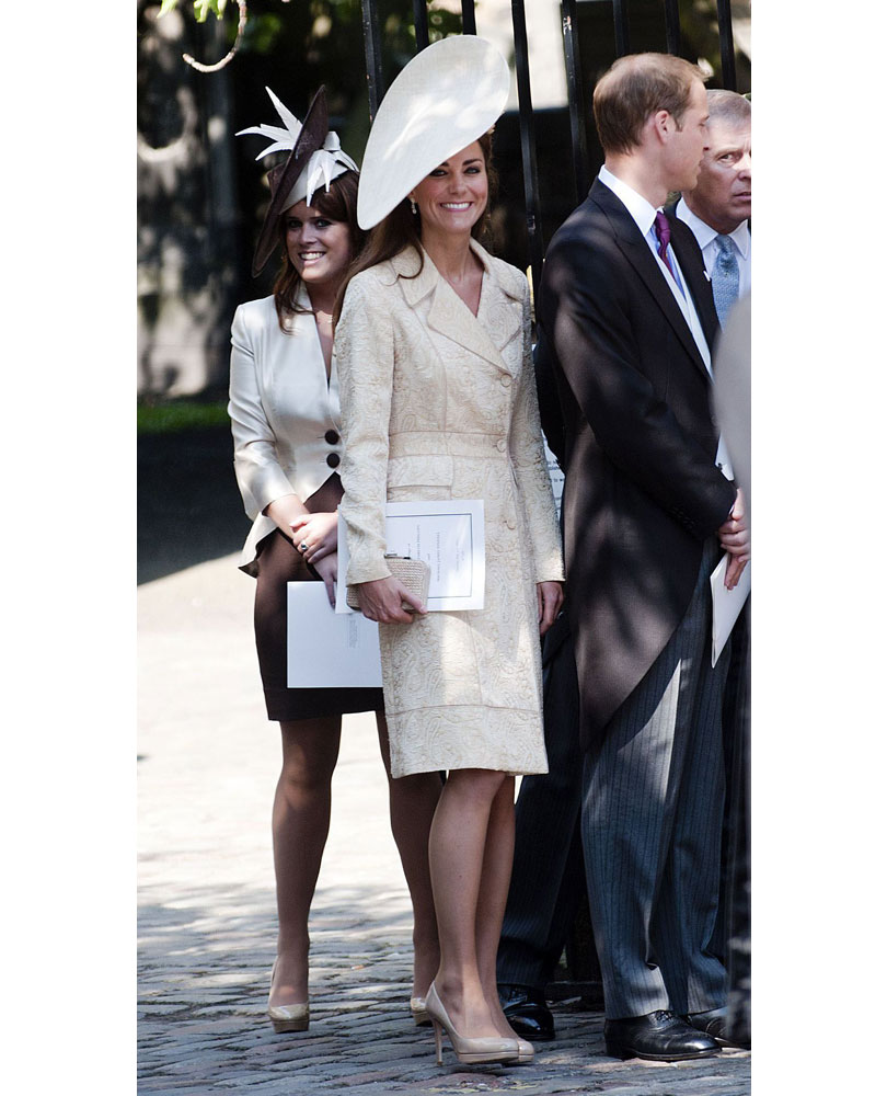 4ab5a5bd03ea What Kate wore  A gold brocade DAY Birger et Mikkelsen coat