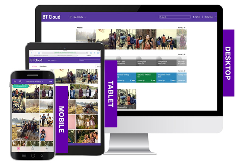 BT Cloud on tablet, desktop and mobile