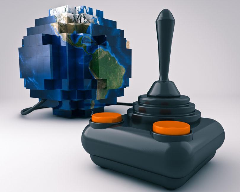 8 bit world and keyboard