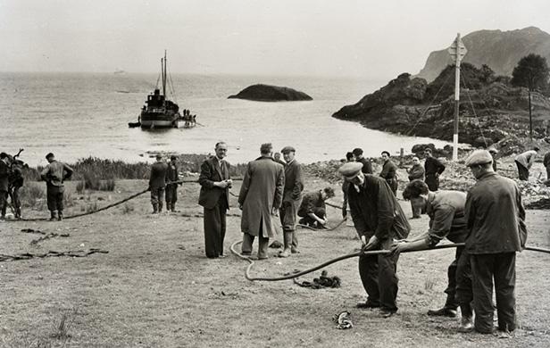 Transatlantic telephone cable operations, Oban, Scotland, 1855. Image credit: Courtesy of BT Heritage & Archives