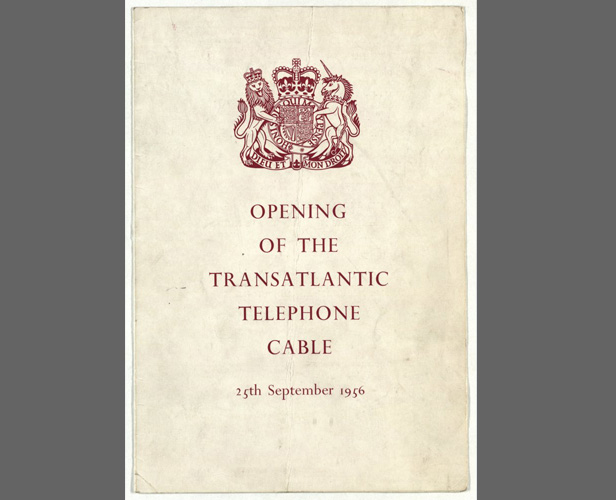 Programme for the inauguration of the cable, 25 Sep 1956. Image credit: Courtesy of BT Heritage & Archives