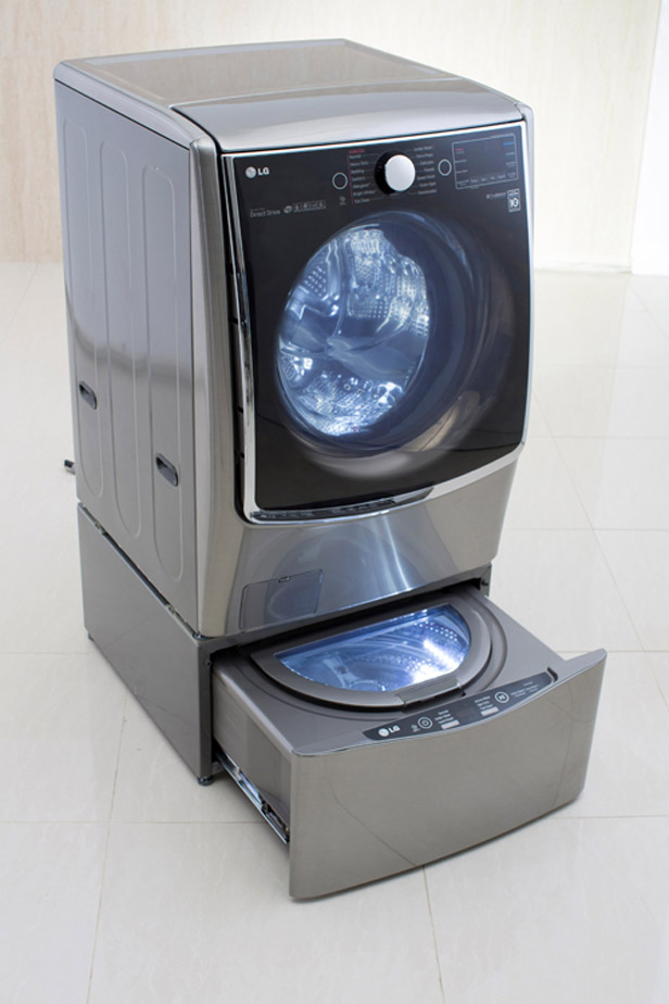 the washing machine that cleans two loads of laundry at bathroom washing machine ideas pictures remodel and decor
