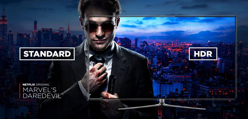 Marvel's Daredevil HDR comparison (image: Netflix)
