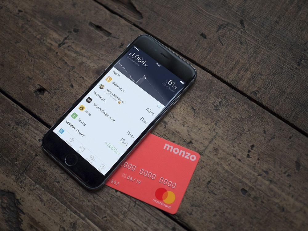 Monzo smart banking app and card lifestyle