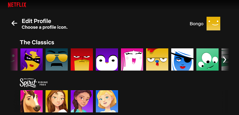 T Netflix avatars web