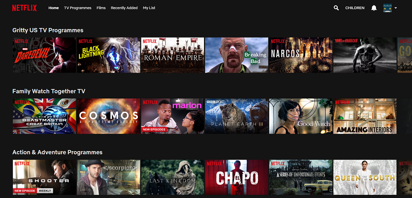 Netflix auto-generated categories