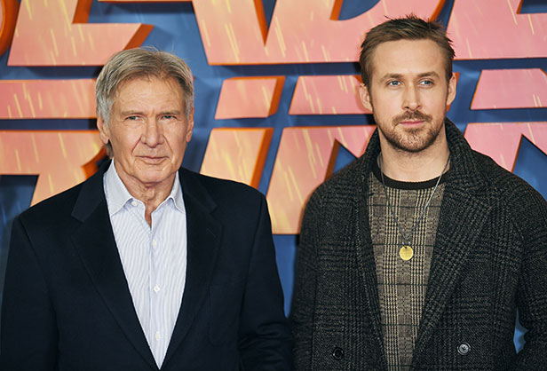 Harrison Ford and Ryan Gosling.  Photo credit: James Gourley/REX/Shutterstock