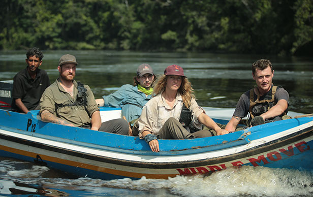 Parker Schnabel and his team in Guyana.  Photo credit: Discovery