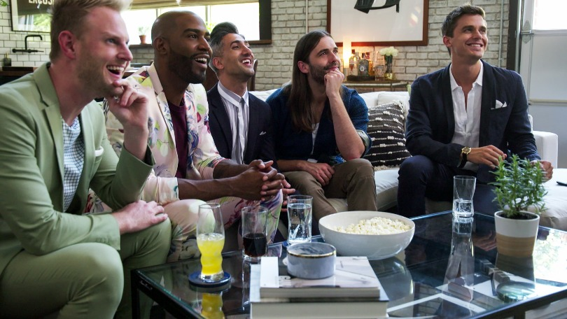 who is queer eye 39 s jonathan van ness the fab five grooming expert bt. Black Bedroom Furniture Sets. Home Design Ideas