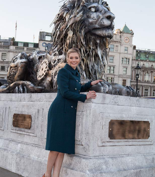 Rachel Riley in Trafalgar Square