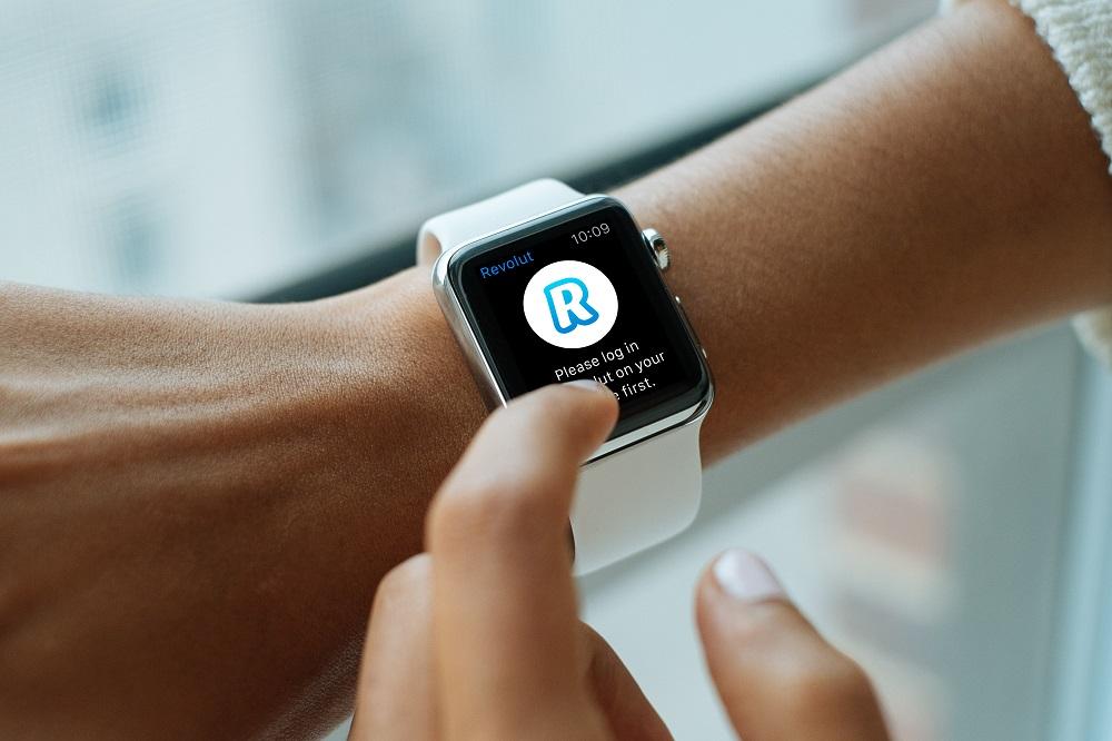 Revolut smart banking app on Apple watch