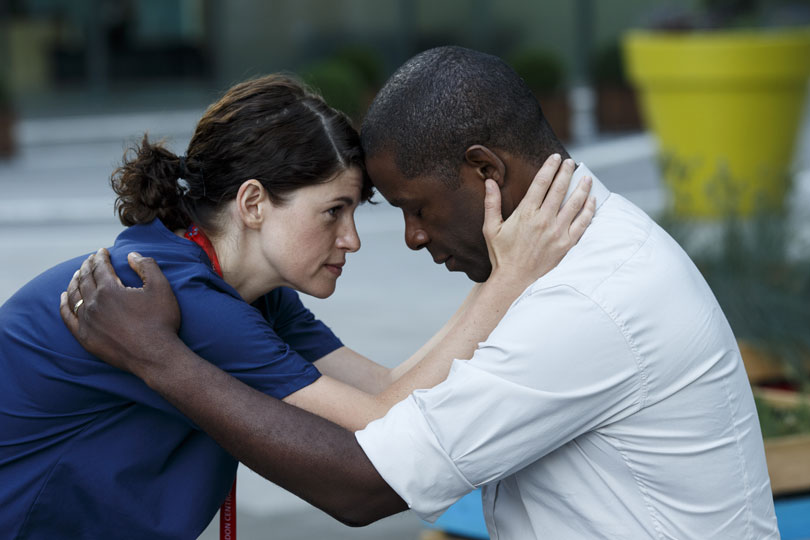 Jemima Rooper and Adrian Lester in Trauma