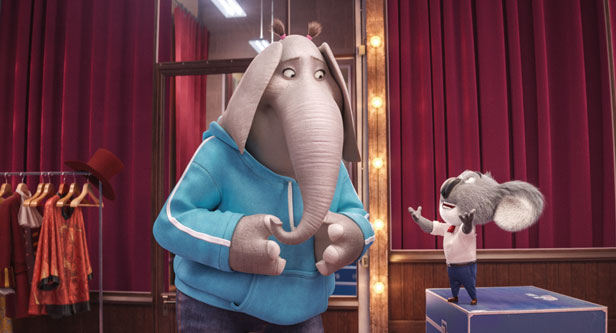 A still from the animated movie Sing. Photo credit: Universal