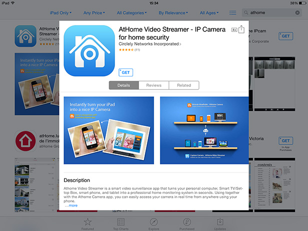 Open www.ichano.com/download in its web browser and install the appropriate AtHome Video Streamer app using links on page. Don\u0027t ditch that old tablet - use it as a home security camera BT