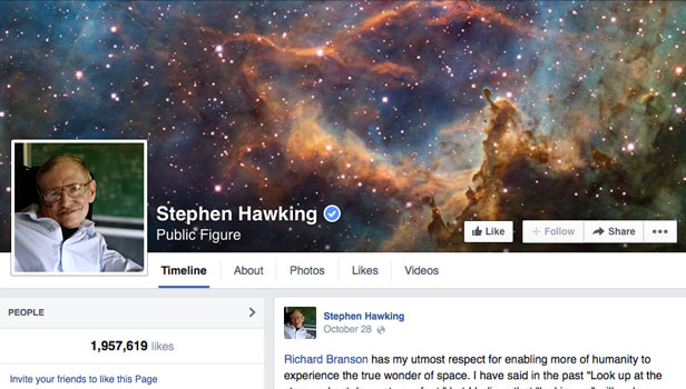 Stephen Hawking FB
