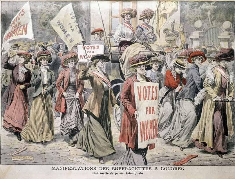 English suffragette celebrations in London