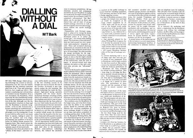 Telecomms Journal, 1972