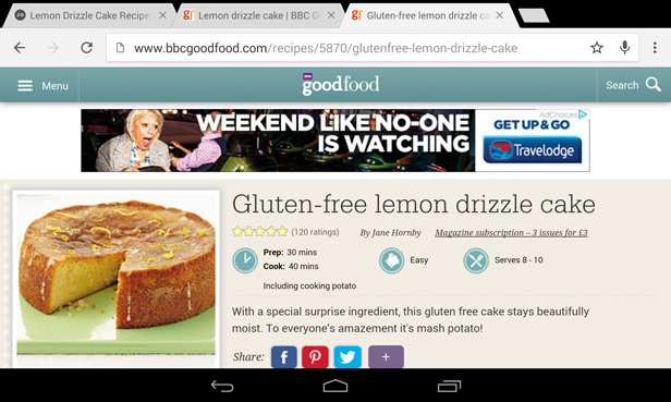 Tesco Hudl 2 browsing tips 2