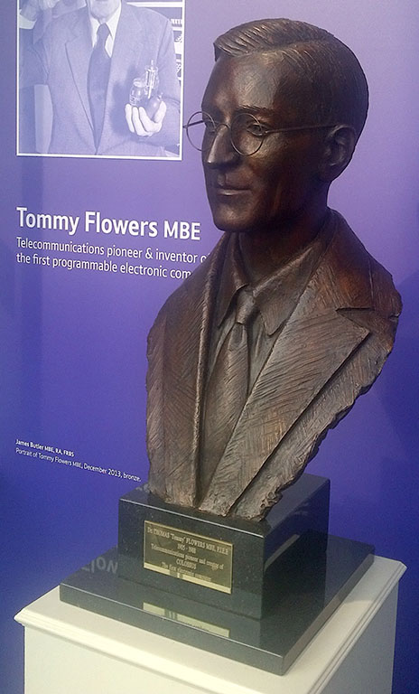 A Portrait of Tommy Flowers by James Butler MBE, RA, FRBS
