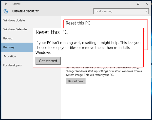 factory reset windows 7 without logging in