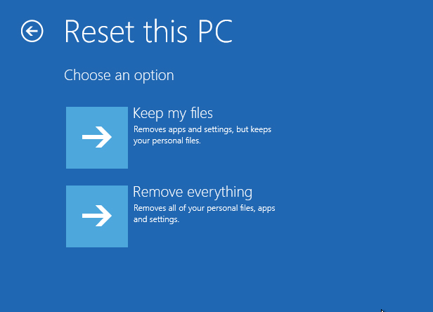 3. Reset this PC from Safe Mode