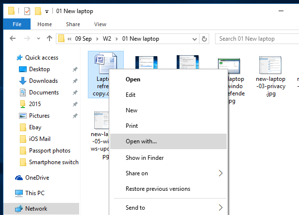 how to delete a windows 10 excel file