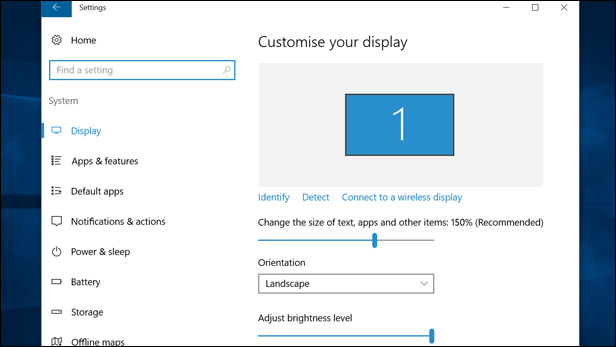 Windows 10 Ease of Access: make everything bigger