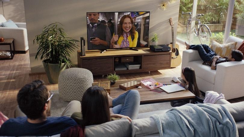 A family watching Netflix