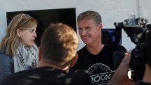 David Coulthard speaks to press at the 2015 Race of Champions media preview.