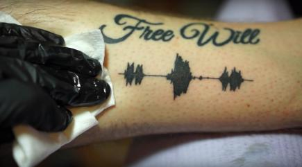 A Los Angeles tattoo artist has created tattoos you can hear