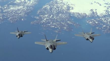 Watch F-35B stealth fighter jet land in UK