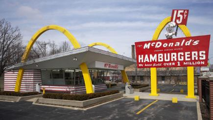 A replica of the first McDonald's restaurant in Des Plaines, Illinois.