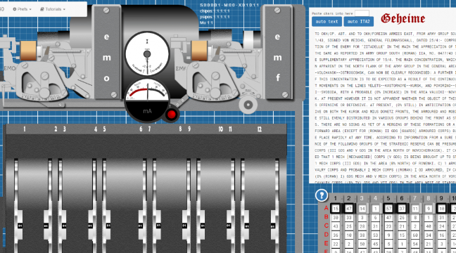 a virtual version of a bill tutte s lorenz s742 coding machine is