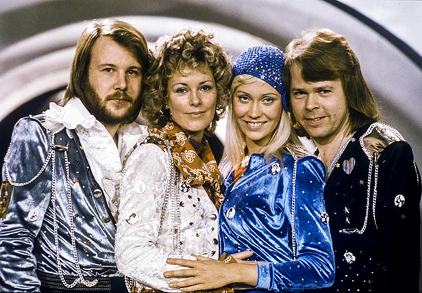 ABBA pictured on the night of the competition