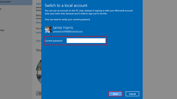 how to change password for microsoft account in windows 10