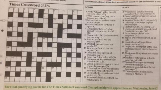 Matthew Dick Arranged For The Times Crossword To Contain A Hidden Marriage Proposal His Girlfriend