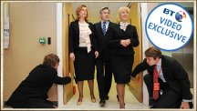Aides kneel at the feet of Gordon Brown - the story behind the photo