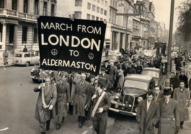 The first Aldermaston March left London for Berkshire on April 4, 1958.