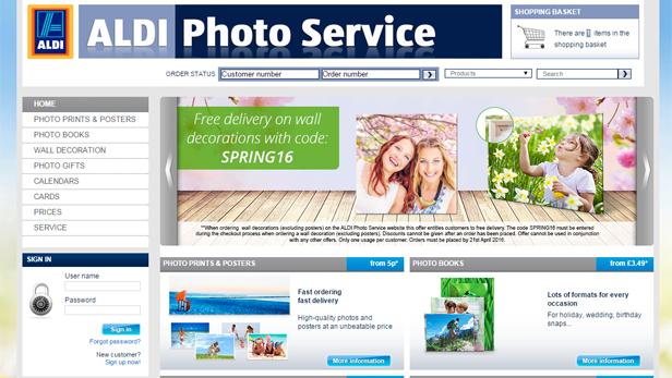 Aldi Photo Service
