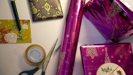Alternatives to traditional wrapping paper