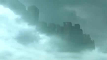 "Canine 'appears' to see a ""ghostly"" apparition in photo! - ""Disc"" - 'City Scape' in Sky and more! Amazing-floating-city-appears-over-china-136401167752010401-151019160105"