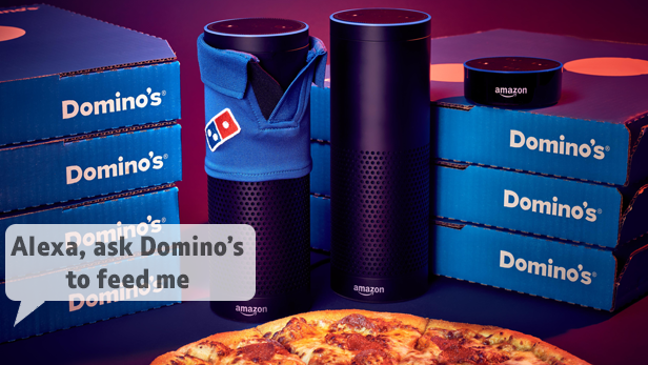 Local takeaways with Amazon Echo