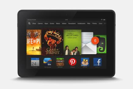 Amazon Kindle Fire HD three quarter